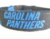 Hemp dog collar - Carolina Panthers