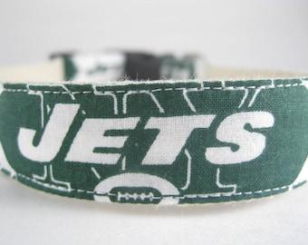 New York Jets hemp dog collar or leash
