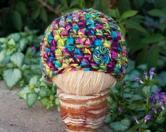 SALE Confetti Button Beanie Newborn Hat RTS
