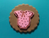 Edible fondant Onesis cupcake toppers