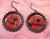 I Love Vampire Earrings