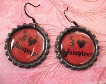 I Love Vampire Earrings