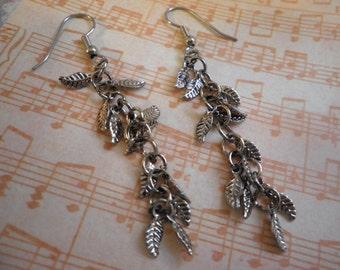 Antique Silver Leafs Earrings