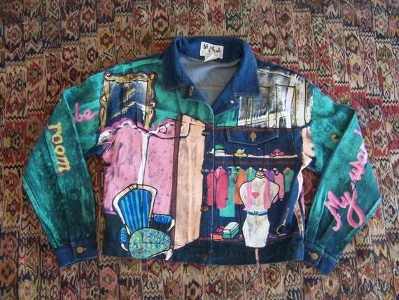 RESERVED Vintage Painted Denim Jacket