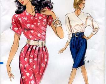Vintage Very Easy  Dress Vogue Sewing Pattern No. 7457 - Sizes 12-14-16