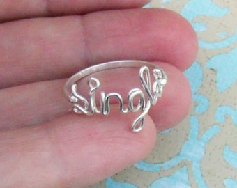 Single Ring in Sterling Silver