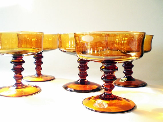 Vintage Cocktail Glass, Mid Century Barware Italian Art Glass
