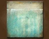 ORIGINAL Art Beautiful Abstract Painting Heavily Textured 24 x 24 by Britt Hallowell