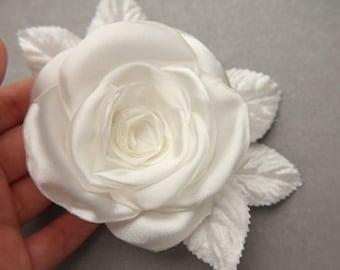 Rose blossom hair piece, hairclip, bridal wedding accessory