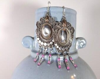 Vintage Sterling Dangle Earrings