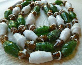 Large Rustic Glass Bead Mix - Traditional Nigerian Furnace Wound Glass Bida Beads - Qty 5 pcs