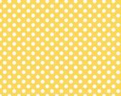 Yellow and White Small Polka Dot Cotton For Riley Blake, 1 Yard