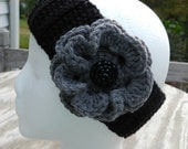 Custom Order for Crystal English: Two Crochet Flower Headbands