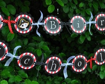 Pirate Party Banner - Pirate Birthday Banner - Boys Pirate Birthday Party Decorations - Kids Pirate Party Banner