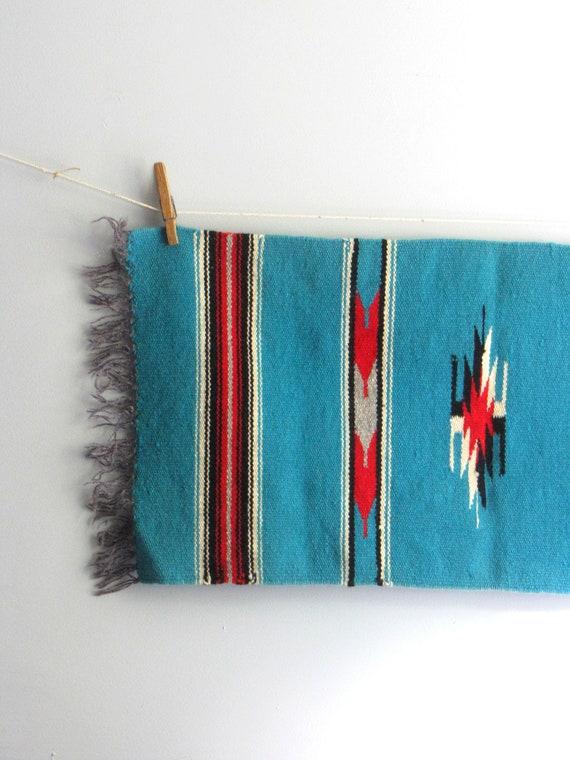 vintage woven aztec rug