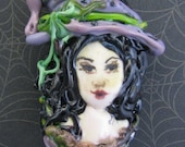 Lampwork Witch Bead, Lilith
