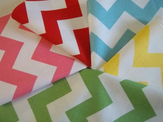 DIY, Chevron Rag Quilt Kit, Bright Colors,  Fun, Fast and Easy to Make