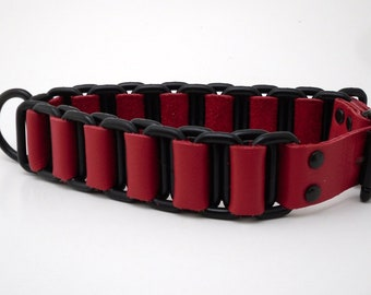 Slave cuff set - Black and red chain cuffs set of two - Free US Shipping