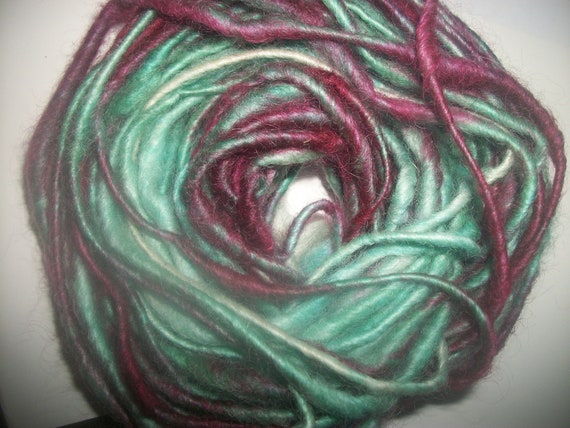 Cotswold Wool Handspun Art Yarn  / Fiber / 21 Yards