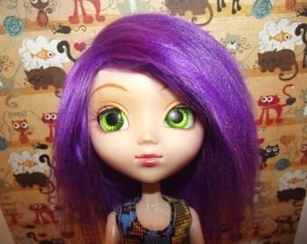 A cute purple faux fur wig hair for Pullip/Taeyang/Dal