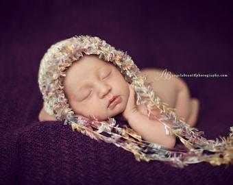 Newborn Photo Prop, Newborn Bonnet, Photography Prop, Newborn Baby Hat, Crochet Photo Prop, Newborn Hat Prop, Newborn Girl Hat, Newborn Hat