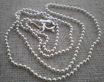 30 inch - sterling silver ball chain -  - build your own hand stamped necklace