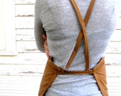 Rustic Full Cross Strapped Workshop Studio Kitchen Apron for Men or Women in The Hobbyist - meyertextileco