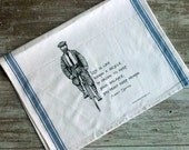 """SALE!  Einstein """"Life is like Riding a Bicycle"""" Tea Towel"""