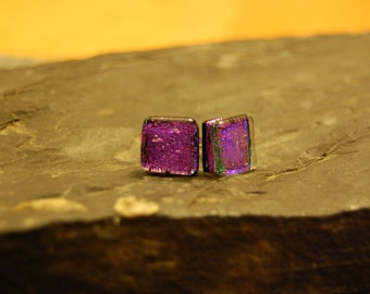 Dichroic Glass Stud earrings