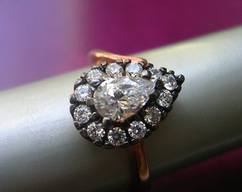 victorian inspired ring  size 6 bridal timeless elegant