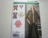 Pattern Ladies Knit Cardigans Various Styles sz 8 to 16  Simp 2560 A
