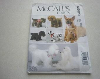 Pattern Stuffed Dogs Toys Animals McCalls 6620