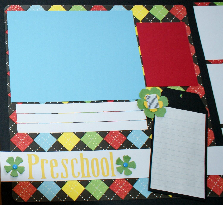 Scrapbook ideas for teachers - Premade School Scrapbook Album School Years Scrapbook Album Teacher Scrapbook Album Classroom Scrapbook Album