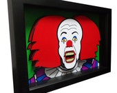 Stephen King Movie Art IT Pennywise Clown 3D Art Pop Horror Artwork
