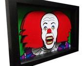 Stephen King Movie Art IT Pennywise Clown 3D Art Pop Horror Artwork