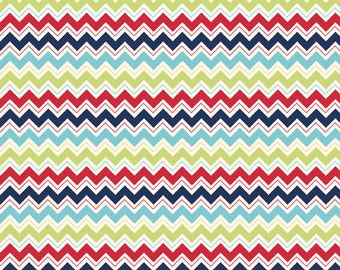 Dress Up Days Chevron Blue by Doohikey Designs for Riley Blake, 1/2 yard