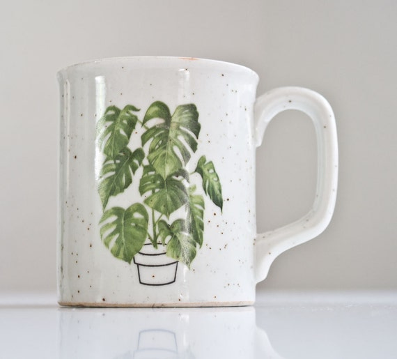 1970s Monstera Stoneware Mug