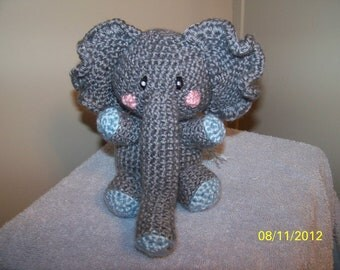 Crochet elephant ANY colors you want Can rattle too