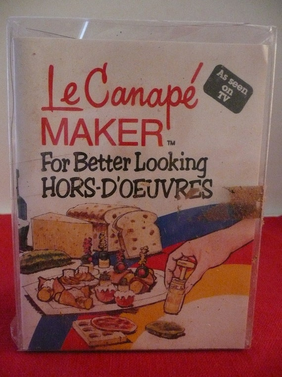 Hors d 39 oeuvres canape sandwich maker by simplyelegantvintage for Canape hors d oeuvres difference