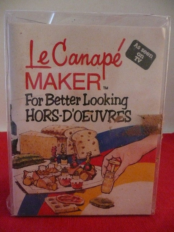 Hors d 39 oeuvres canape sandwich maker by simplyelegantvintage for Canape maker