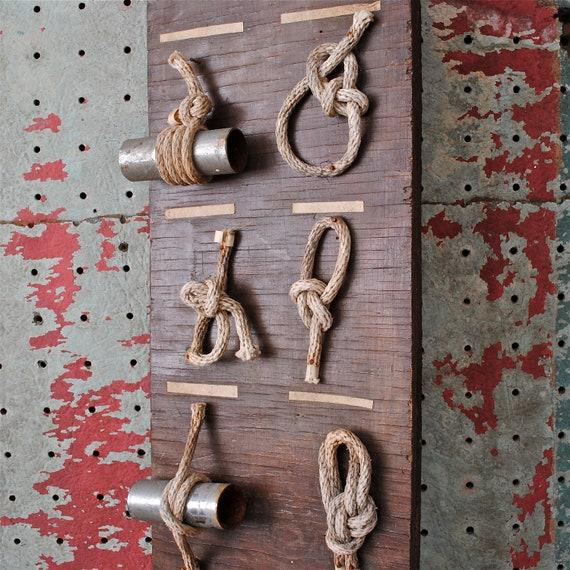 Vintage Nautical Sailing Knot Display Board