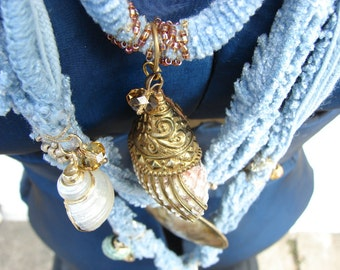 Statement Necklace/ Ocean Dreams