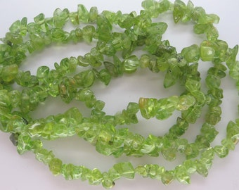 Extra Long 34 Inch Strand Natural Oliver Quartz Nugget/Chip Beads