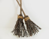 """Stick Witch Broom 12"""" 2 Pieces"""