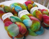 Superwash BFL Wool/ Cashmere/ Nylon Sock Top Hand Dyed 4oz Bridgette the Magnificent BNC 2