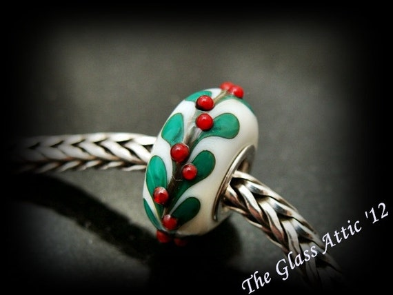 Deck The Halls European Charm Bead fits Trollbeads and all BHB systems SRA
