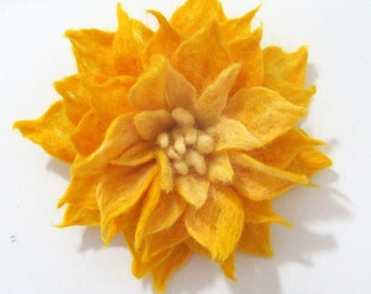 SALE Felted Brooch  flower Eco-friendly  handmade jewelry