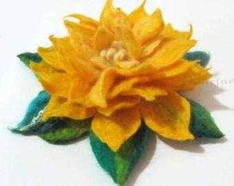 SALE Felted Brooch  flower