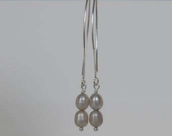 Pearl Dangle Earrings, Bridal Earrings, Bridesmaids Gifts