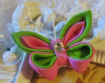 Hair clip in Kanzashi Butterfly